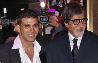 Akshay Kumar and Amitabh Bachchan at the European premiere of