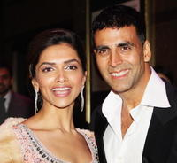 Deepika Padukone and Akshay Kumar at the UK premiere of