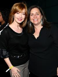 Sharon Lawrence and Susanne Daniels at the premiere of