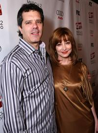 Dr. Tom Apostle and Sharon Lawrence at the 2nd season premiere screening of