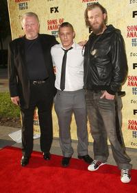 William Lucking, Theo Rossi and Ryan Hurst at the premiere of