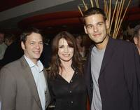 Jeff Gaspin, Kim Delaney and Ivan Sergei at the after party of