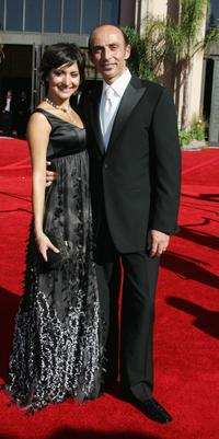 Shaun Toub and guest at the 58th Annual Primetime Emmy Awards.