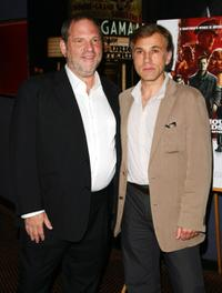 Harvey Weinstein and Christoph Waltz at the New York special screening of