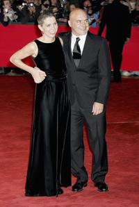 Francesca Comencini and Luca Zingaretti at the premiere of
