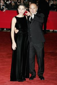Francesca and Luca Zingaretti at the premiere of