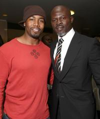 Michael Jai White and Djimon Hounsou at the premiere of