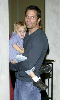 Mason and his father Rob Estes at the 2002 Lullabies and Luxuries Fashion Event.