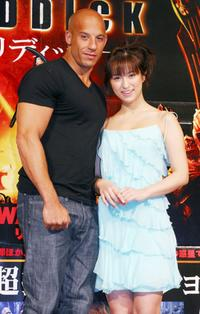 Vin Diesel and Kasumi Nakane at the press conference of