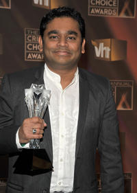 A.R. Rahman at the VH1's 14th Annual Critics' Choice Awards.