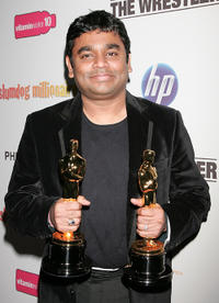A.R. Rahman at the post Oscar party of