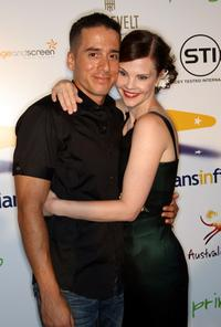 Kirk Acevedo and Kiersten Warren at the Australians In Film's 2009 Breakthrough Awards.