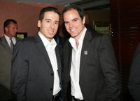Kirk Acevedo and Michael Kelly at the premiere of