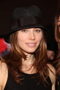 Jessica Biel at the Paris68 Fall 2010 Fashion Show during the Mercedes-Benz Fashion Week.