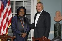 James Brown and Colin Powell at the Kennedy Center Honors Ceremony.