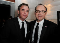 Spencer Garrett and Kevin Spacey at the after party of