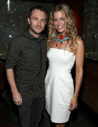 Chris hardwick and sheri moon zombie at the after party of the
