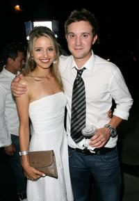 Dianna Agron and Sam Huntington at the premiere of
