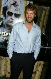 "Thomas Jane at a cocktail reception for the movie ""Stander"" in New York City."