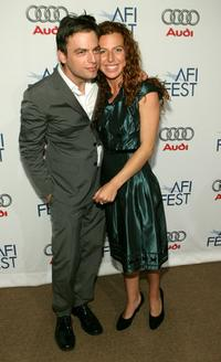 Justin Kirk and Tanna Frederick at the world premiere of