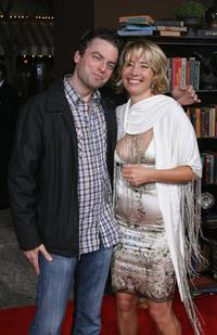 Justin Kirk and Emma Thompson at the premiere of