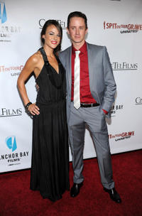 Sarah Butler and Chad Lindberg at the California premiere of