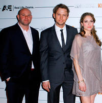 Domenick Lombardozzi, Jimmi Simpson and Brooke Nevin at the New York premiere of