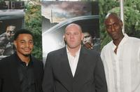 Corey Parker-Robinson, Domenick Lombardozzi and Lance Reddick at the premiere of