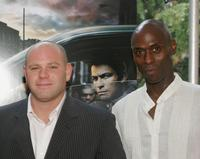 Domenick Lombardozzi and Lance Reddick at the premiere of