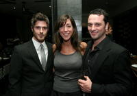 Dave Annable, Marcy Bloom and Matthew Rhys at the DKNY Men VIP Dinner and After Party for the 2008 GQ Luxe Lounge.