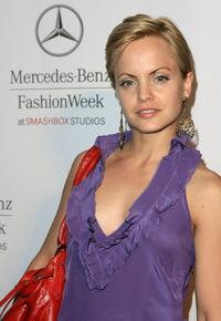 Mena Suvari at the Mercedes-Benz Fashion Week.