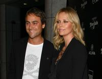 Stuart Townsend and Charlize Theron at the special screening of
