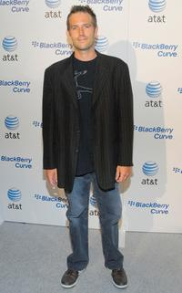 Michael Vartan at the launch party of the new BlackBerry Curve.