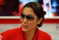 Michelle Yeoh and Jean Todt during qualifying for the Japanese Formula One Grand Prix.