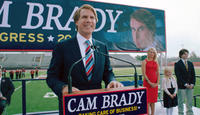 Will Ferrell as Cam Brady, Katherine La Nasa as Rose Brady, Madison Wolfe as Jessica Brady and Randall Cunningham as Cam Jr. in
