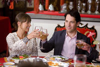 Rashida Jones as Zooey and Paul Rudd as Peter in
