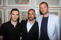 Russell Baer, director Amir Bar Lev and John Battsek at the after party of the premiere of