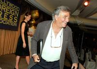 Peter Falk and Hilary Swank at the 2007 HFPA Installation Lunch.