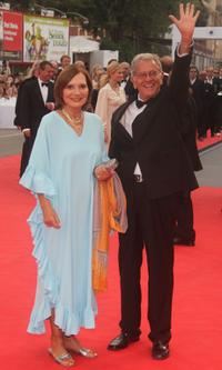 Rossella Falk and Enrico Lucherini at the premiere of