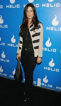 Rhona Mitra at the party to celebrate the launch of Helio, a new mobile communications service.