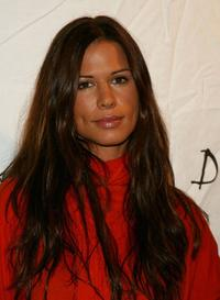 Rhona Mitra at the Johnnie Walker Dressed to Kilt 2006 Fashion Show during the Mercedes Benz Fashion Week.
