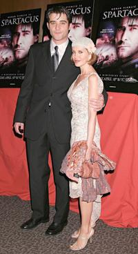 Goran Visnjic and Guest at the world premiere of