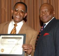 Antonio Fargas and Charles Whitehead at the 38th NAACP Image Awards nominees luncheon.