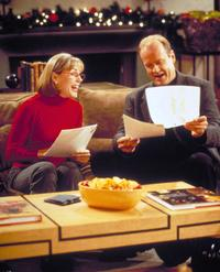 Bess Armstrong and Kelsey Grammer at the NBC''s television comedy series Frasier.