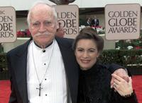 Richard Farnsworth and his girlfriend Jewel Van Balin at the 57th Annual Golden Globes awards.