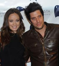 Olivia Wilde and Shawn Andrews at the premiere of