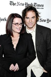 Megan Mullally and Roger Bart at the New York Times Arts and Leisure Week.