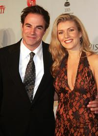 Roger Bart and Joanne Manning at the 33rd International Emmy Awards Gala.
