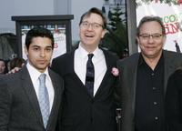 Paul Feig, Wilmer Valderrama and Lewis Black at the premiere of the ''Unaccompanied Minors''.