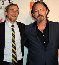 Charlie Hunnam and Tommy Flanagan at the California premiere of